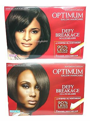 Optimum Care Anti-Breakage No Lye Relaxer REGULAR/ SUPER (Pack of 2 Boxes)