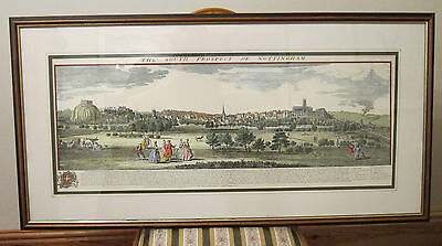 NOTTINGHAM & Castle ~South Prospect~ 19th Century ENGRAVING Large Print Painting