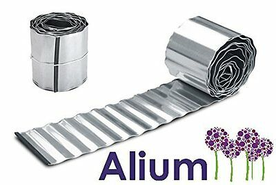 Galvanised Steel Metal Garden Border Lawn Edging Roll (5m Lengths) H16.5cm (5m)