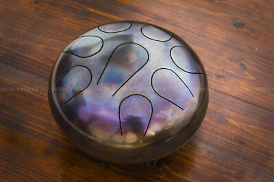 HandPan Trommel Drum Steel Hank Tongue  Handmade  W 22 cm  +Sticks