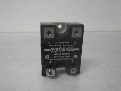 240A25 Opto22 solid state relay 120/240VAC control (Used and Tested)