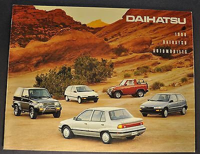 1990 Daihatsu Catalog Sales Brochure Charade Rocky 4x4 Excellent Original 90