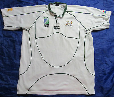 South Africa RUGBY WORLD CUP 2007 away shirt jersey CANTERBURY Springboks men XL