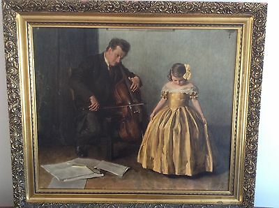 'First Recital' by John Adams . A beautifully framed reproduction on canvas.