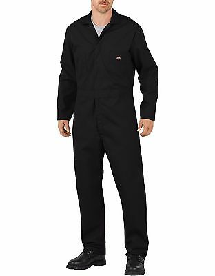 Dickies Black Long Sleeve Flex Coverall Jumpsuits Work Wear 48274BK New