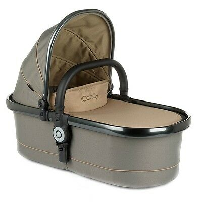 iCandy Peach Twin Carrycot - olive + FREE HENRIK VIBSKOV BLANKET BY QUINNY NEW
