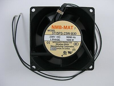 NEW NMB-MAT 3115PS-23W-B30-AOO Cooling Fan Axial 230VAC 80x38mm 50/60Hz 1 Phase