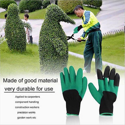 Outdoor Garden Tool GENIE Gloves For Digging&Planting with 4 ABS Plastic Claws