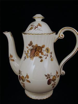 *BEAUTIFUL* Hammersley COFFEE or TEA POT with Brown and Gold FRUIT # 5917