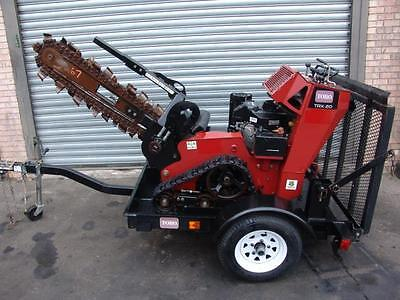 2012 Toro Trx-20 Walk Behind Trencher With Trailer Only 156 Hours  Cream Puff
