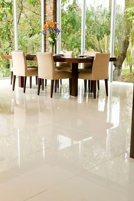 Tiles Glazed Porcelain Floor/Wall Italian Ice Pietra Ivory (600x600mm)