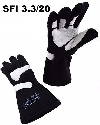 Alcohol Racing Gloves Sfi 3.3/20 Racing Gloves 3-2A/20 Black Size Xl