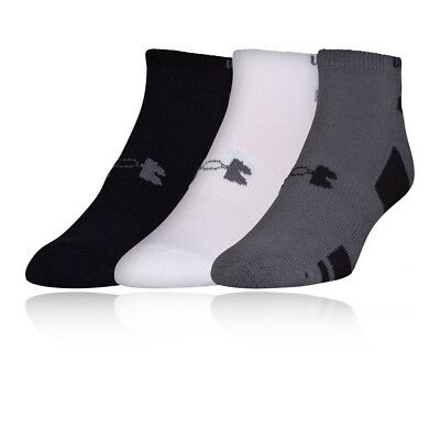 Under Armour HeatGear No Show Mens Athletic Running Socklet Socks 3 Pack
