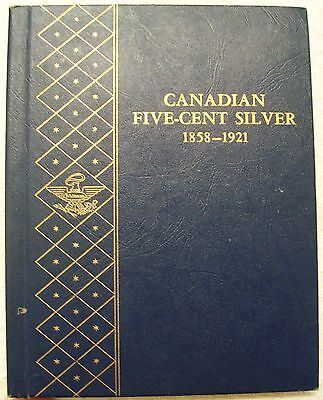 Canada Five Cent Silver Whitman Book--10 Coins--1883 To 1919