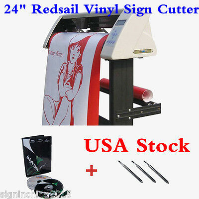 "USA Stock--High Quality 24"" Redsail Vinyl Sign Cutter with Contour Cut Function"