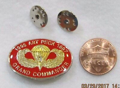 1996 Art Peck 1997 Grand Commander Shriners Lapel Pin Pinback