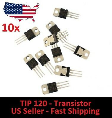10x TIP120 NPN BJT ST Darlington Transistor TO-220 for Arduino DIY Project