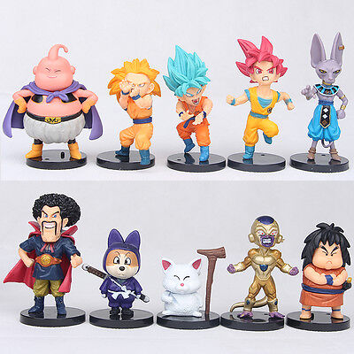 10pcs Dragon Ball Z Anime Figure Toys Set Collection Playset Kids Birthday Gifts