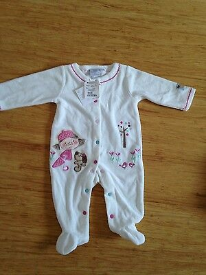 Baby girl coveralls bnwt new with tag 00 3-6 months
