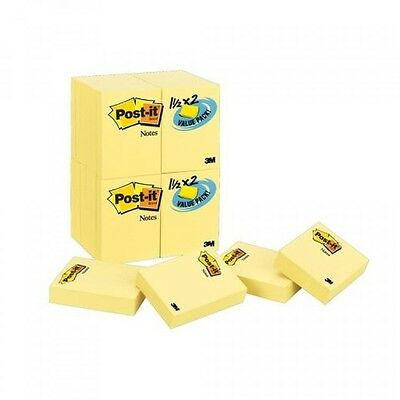 Postit Notes Value Pack, 11/2 x 2Inches, Canary Yellow, 24Pads/Pack