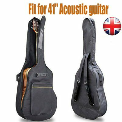 """Guitar Bag Electric Acoustic Classical Case Cover GigBag With Straps fit for 41"""""""