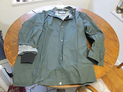 Dark green 3XL Rugged Waterproof Raingear Jacket New