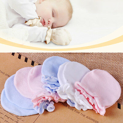 Newborn Boy Girl Infant Soft Cotton Handguard Anti Scratch Mittens Gloves