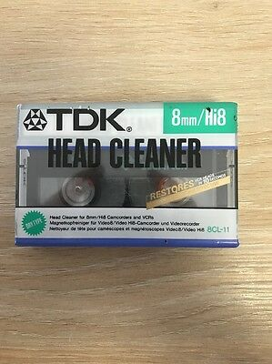 TDK 8mm Hi 8 Head Cleaner, Dry Type No Fluid Needed
