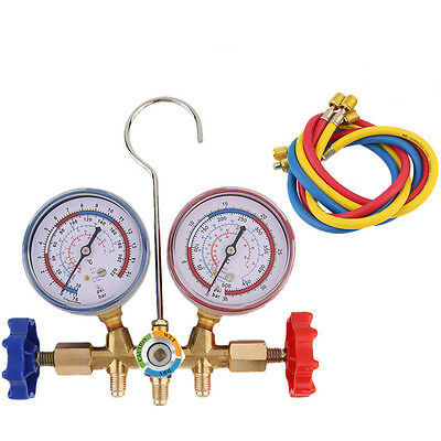 Auto A/C Refrigeration Air Conditioning AC Diagnostic Manifold Gauge Tool Kit