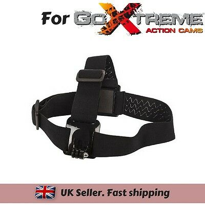 Adjustable Head Strap Mount for Action Cam GoXtreme Vision 4K Ultra HD Enduro