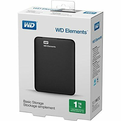 Wd Elements Western Digital Hard Disk Esterno 2,5 1Tb 1000 Gb Wdbuzg0010Bbk