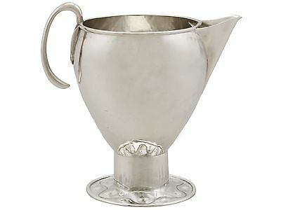 Sterling Silver Cream Jug by A E Jones, Arts and Crafts Style, Antique George v