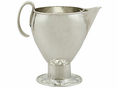 Antique George v Sterling Silver Cream Jug by A E Jones, Arts and Crafts Style