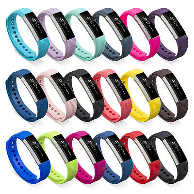 Replacement Wrist Band Safe TPE Strap Bracelet+Buckle For Fitbit Alta Size S/L