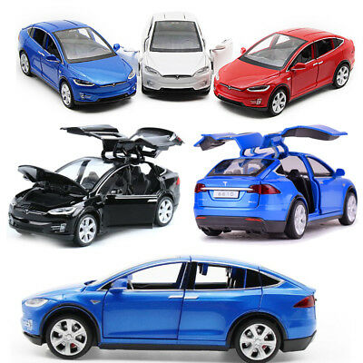 Tesla Model X 90D SUV Diecast Model Car Pull Back Vehicle Collection Decor Toy