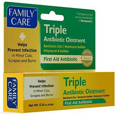 First aid triple antibiotic ointment for cuts,scrapes burns compare to neosporin