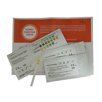 Kidney Function Tests - 10 x Home Urine Test Strips - 2 Per Foil