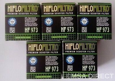 Suzuki UK110 Address (2015 to 2016) HifloFiltro Oil Filter (HF973) x 5 Pack