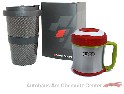NEU Audi Collection Original Thermo Snackbox für Kinder und Porzellan Becher