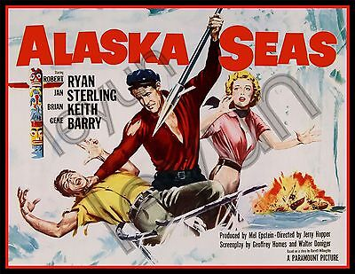 "ALASKA SEAS 1954  poster repro 18""x 24"" Robert Ryan - Jan Sterling"