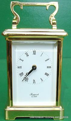 Rapport Vintage English 8 Day Corniche Timepiece Carriage Clock Boxed