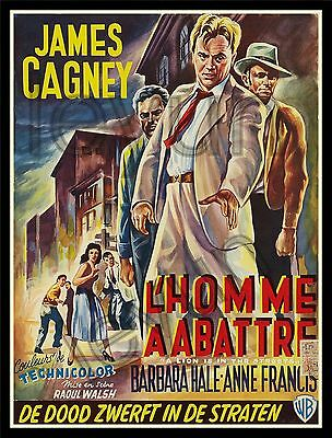 "A LION IS IN THE STREET 1953  poster repro 14""x 18"" James Cagney - Barbara Hale"
