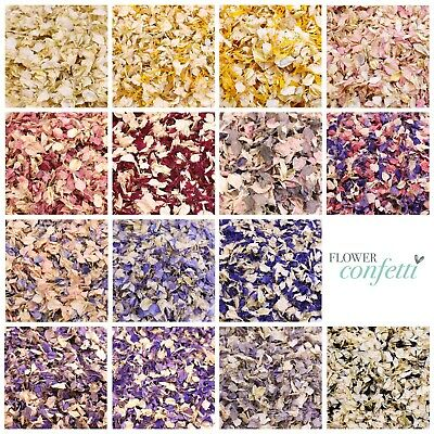 Luxury Biodegradable Natural Wedding Confetti- Dye Free Petals - 0.5 Or 1 Litre