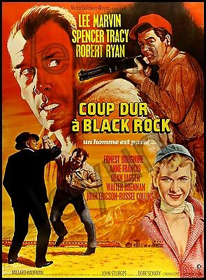 "BAD DAY AT BLACK ROCK 1954  poster repro 18""x 24"" Robert Ryan - Lee Marvin"