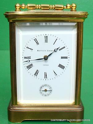 Matthew Norman Swiss Grande Corniche 8 Day Striking Alarm Carriage Clock