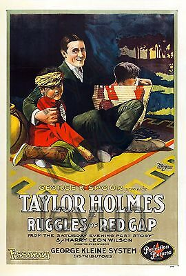 "RUGGLES OF RED GAP 1918  poster repro 16""x23,5"" Taylor Holmes -"