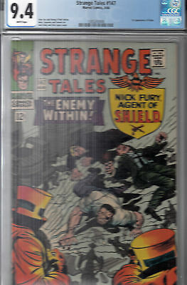 STRANGE TALES #147 (Aug 1966)  CGC 9.4 (NM)  WP  * HIGH GRADE * 1st KALUU *