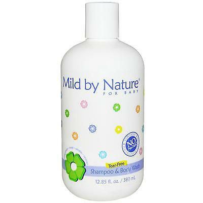 Baby Shampoo & Body Wash -380ml by Mild by Nature - Tear Free, Natural & Organic