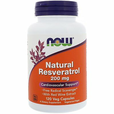 Natural Resveratrol - 120 - 200mg Vcaps by Now Foods - Cardiovascular Support