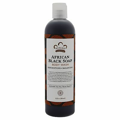 African Black Soap Body Wash - 384ml by Nubian Heritage - Detoxifying & Healing